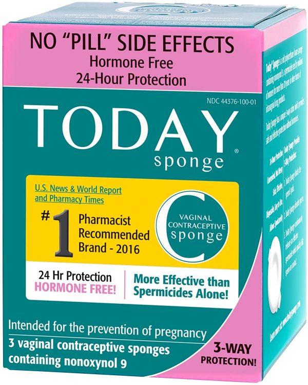 Today Sponge 女性避孕棉 24小時內多次性行為同樣有效