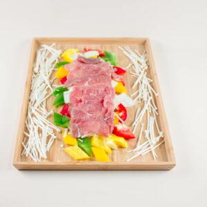 三色椒炒牛肉
